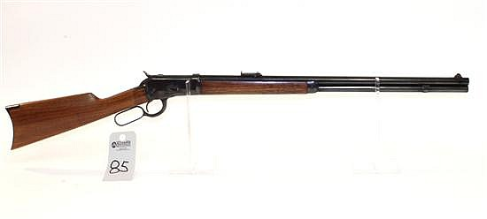 """Winchester Model 1892 lever action rifle. Cal. 44 WCF. 24"""" octagon bbl. SN 192622. Reblued finish on all metal, crescent metal butt ..."""