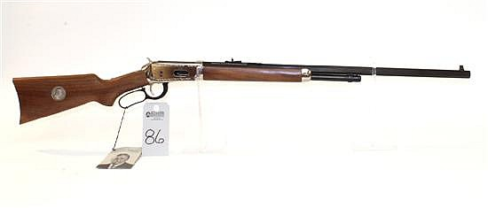 """Winchester Model 94 Theodore Roosevelt Commemorative lever action rifle. Cal. 30-30 Win. 26"""" octagon bbl. SN TR7639. Blued finish on..."""
