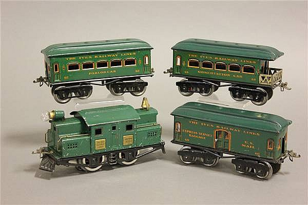 IVES PASSENGER SET INCLUDING 3252 ENGINE AND 60, 62, 68 CARS