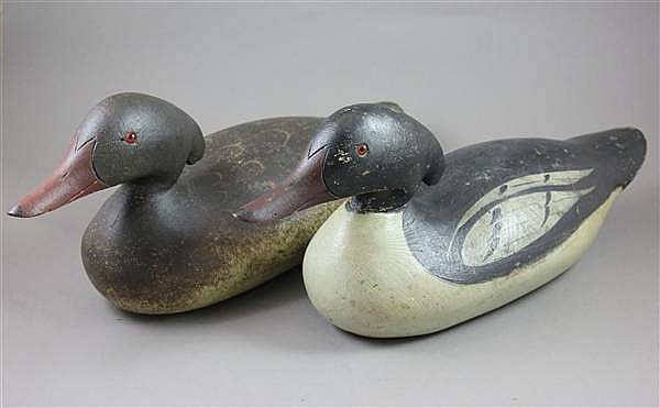 PAIR MASON DECOY CO AMERICAN MERGANSERS