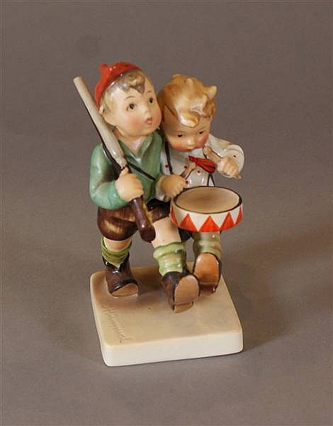 "HUMMEL FIGURINE ""VOLUNTEERS"" 50/0, FIRST MARK 5 1/2""H"