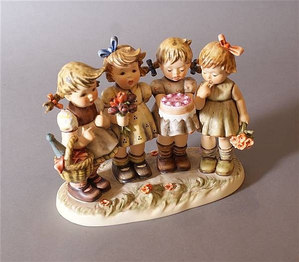 "HUMMEL FIGURINE ""WE WISH YOU THE BEST"" #600 6 MARK, CLOSED EDITION, 8 1/4"" X 9 1/2"" WITH BOX"