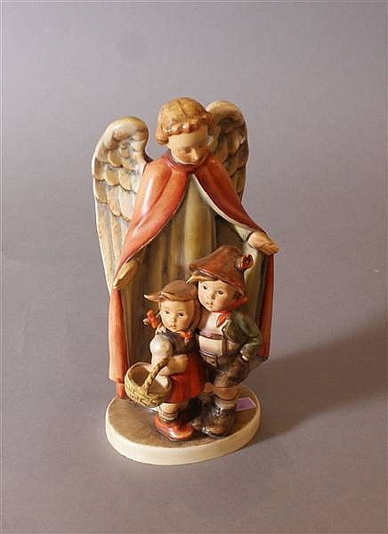 "HUMMEL FIGURINE ""HEAVENLY PROTECTION"" #88 2 MARK GERMANY, 9 1/2"""