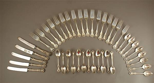 "75 PIECE TOWLE STERLING SILVER FLATWARE ""OLD COLONIAL"""