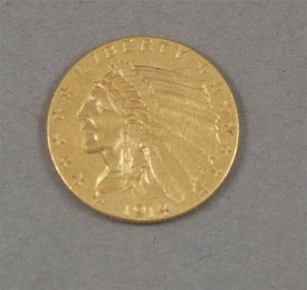 U.S. 2 1/2 DOLLAR GOLD COIN 1914