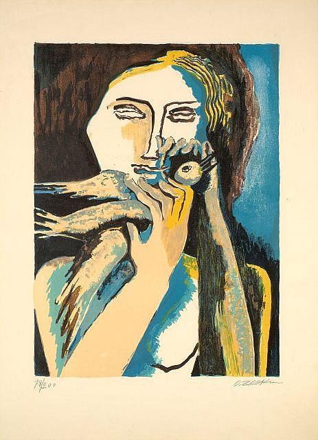 Ossip ZADKINE (Vitebsk, 1890- Paris, 1967) L'OISELEUR, circa 1960