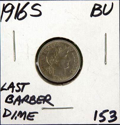 1916S Barber Dime BU