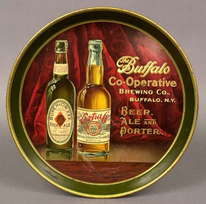Pre-prohibition Buffalo Coop, Brewing beer tray