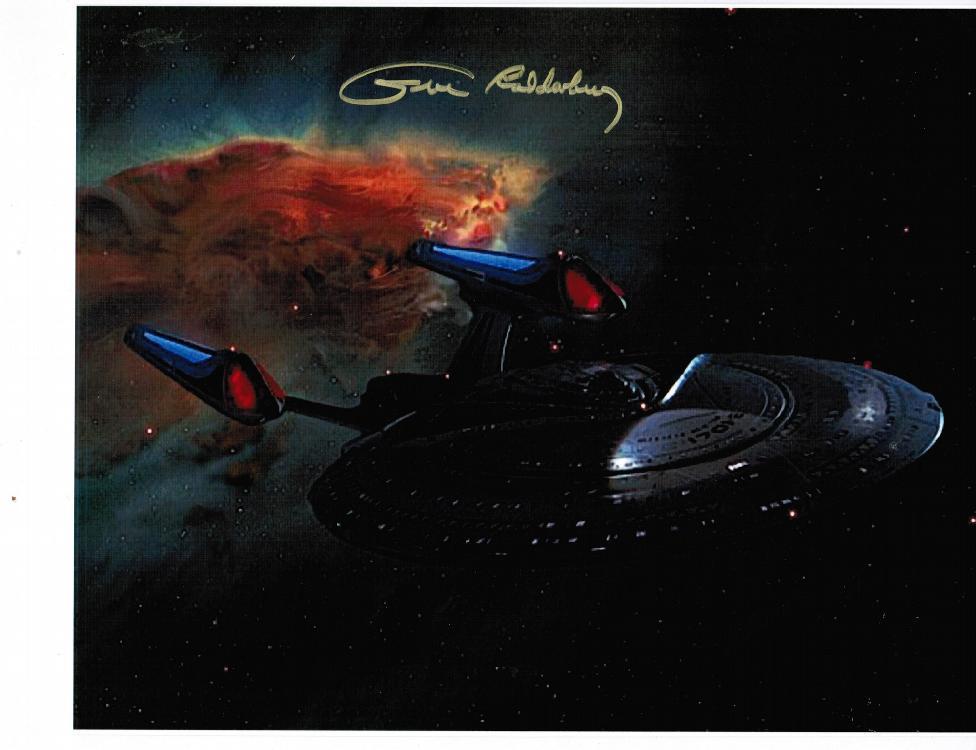 Gene Roddenberry Autographed Photo. Creator of Star Trek