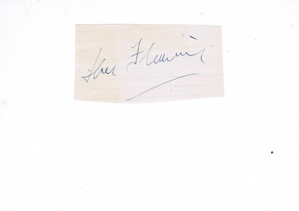 Ian Fleming Autographed Album Page. Author/Journalist/Naval Intelliggence Officer. James Bond Spy Novels
