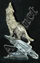 Wolf figure on crystal rocks