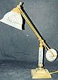 Glass adjustable desk lamp