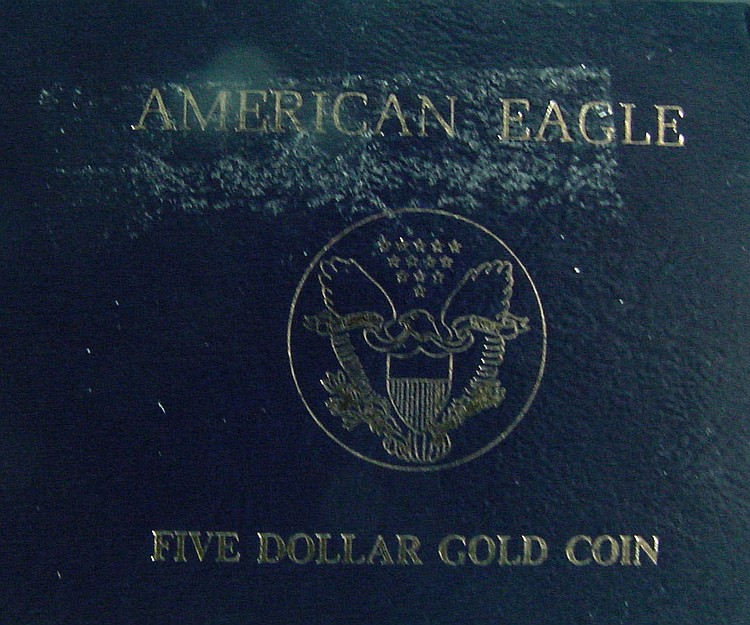 1991 American Eagle $5 Gold Coin