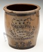 James Hamilton Stenciled Stoneware Crock