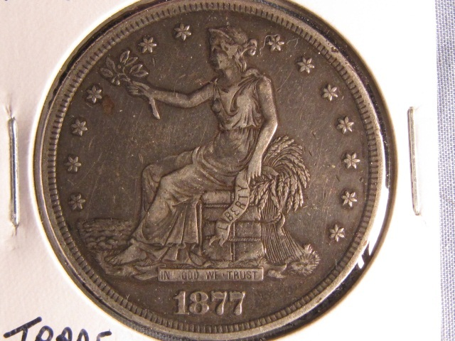 1877-S US Trade Silver Dollar - XF