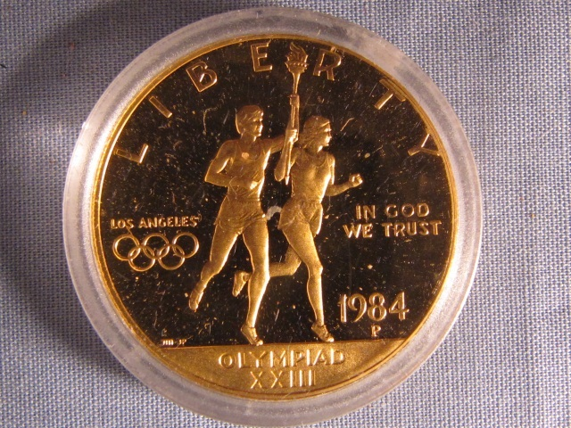 1984-P Olympic $10 Gold Commem Coin - Proof