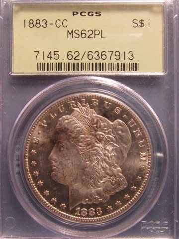 1883-CC Morgan Silver Dollar - PCGS MS62PL