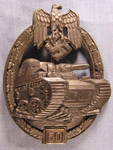 German WWII Army Panzer Tank Assault Badge