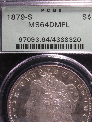 1879-S Morgan Silver Dollar - MS64 DMPL