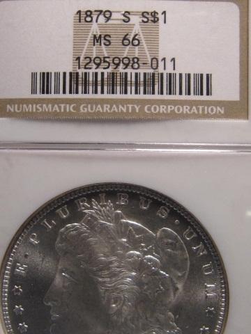 1879-S Morgan Silver Dollar - NGC MS66