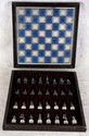 L68 VINTAGE FRANKLIN MINT 1983 CIVIL WAR BOXED BLUE & GRAY CAST PEWTER CHESS SET