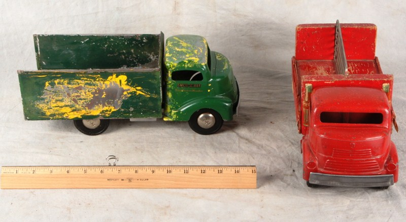 L148 LOT 2 SMITH MILLER 1950s TRUCKS 46-7 FORD COKE COCA COLA DELIVERY TRUCK