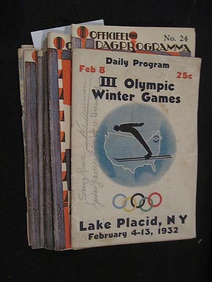 9 vols. (wrappers) Olympic Games Programs & C: [Official Program - Amsterdam Olympics, 1928] Nos. 24, 26-28, 29 (x3) and 30...