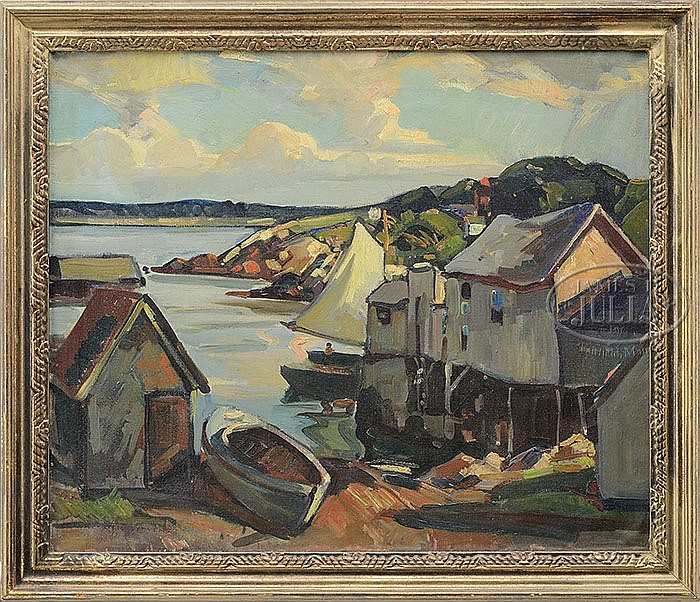 WILLIAM LESTER STEVENS (American, 1888-1969) PIGEON COVE, ROCKPORT