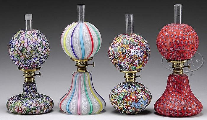 FOUR ITALIAN MINI LAMPS.
