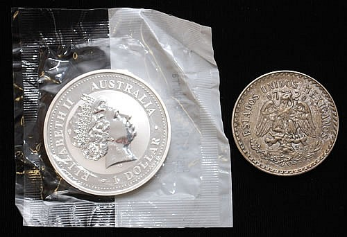 (2) MISC. SILVER COINS