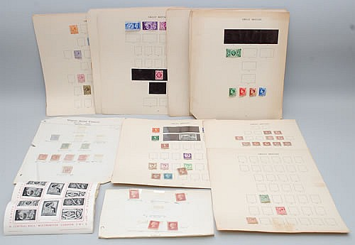 FLAT LOT MISC. BRITISH POSTAGE STAMPS
