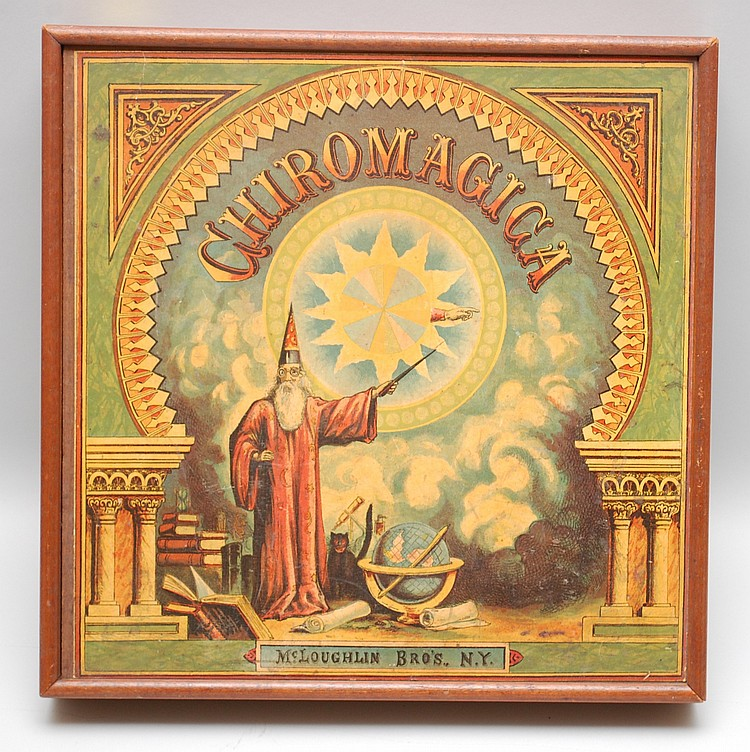 19TH CENT. CHIROMAGICA BOXED GAME BY MCLOUGHLIN BROS.