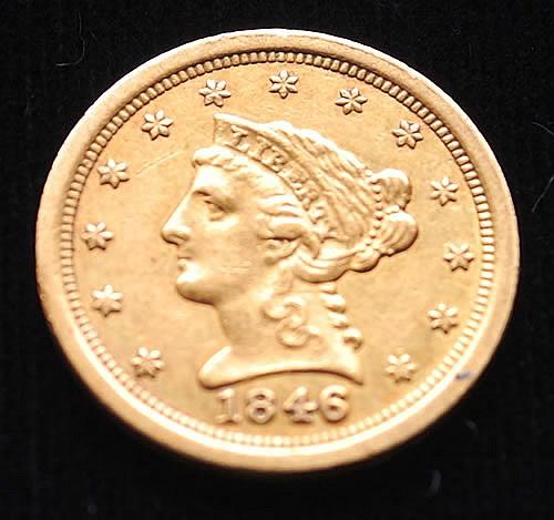1846-O U.S. GOLD LIBERTY HEAD/QUARTER EAGLE $2.50 COIN