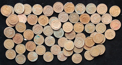 (67) MISC. 19TH & 20TH CENT. U.S. INDIAN HEAD CENTS