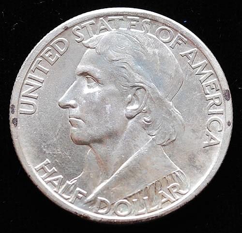 1936-S U.S. SILVER DANIEL BOONE BICENTENNIAL COMMEMORATIVE HALF DOLLAR