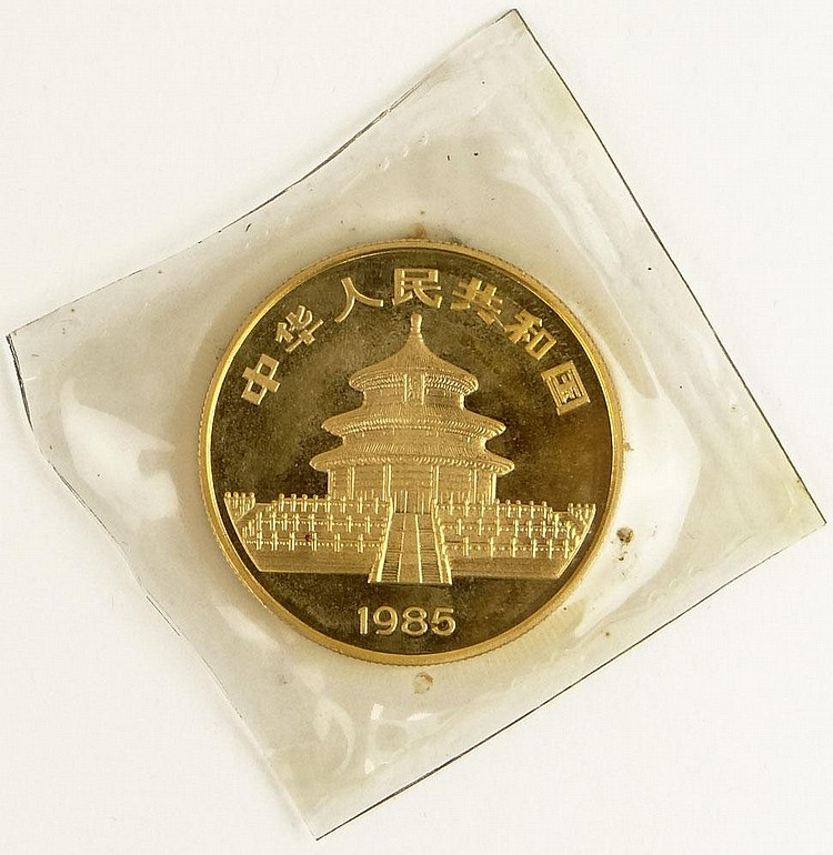 1 Oz .999 Gold Chinese 1985 Panda Coin in Plastic Sleeve. Proof Condition. Domestic Shipping $12.00