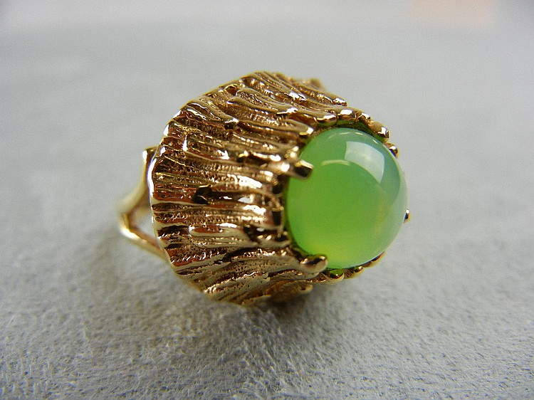 14K Lime Linde Star Ring, 7.1g