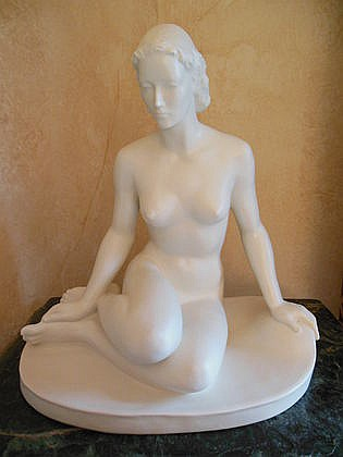 Rosenthal Nude White Statue, Small Chip to Toe