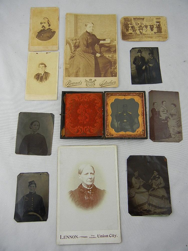 Lot of Civil War Tin Types (Military and Wheeler Family)