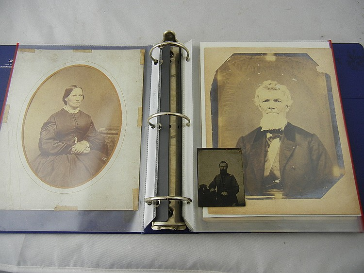 Binder of Wheeler Family Photos, Letters, and Receipts