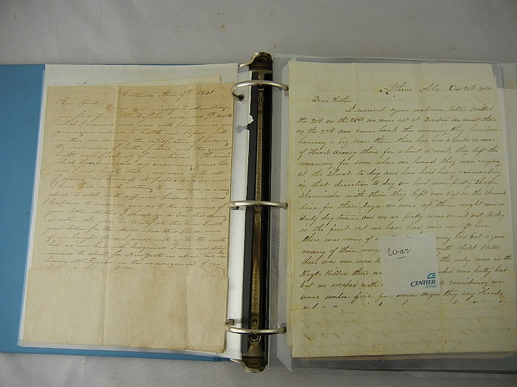 Binder of Wheeler Family Letters As Early AS 1727 to Late 1800's