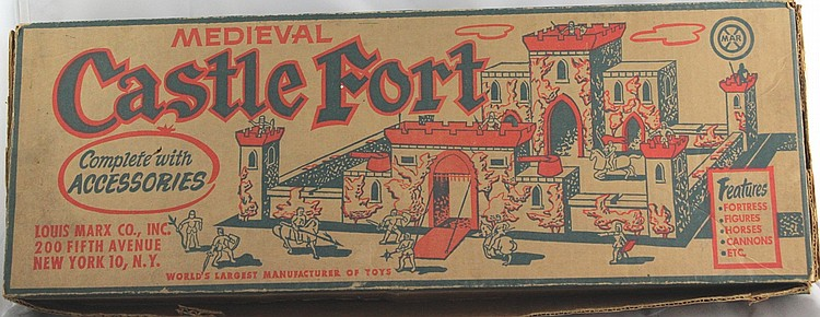 Marx Medieval Castle Fort w/ Box