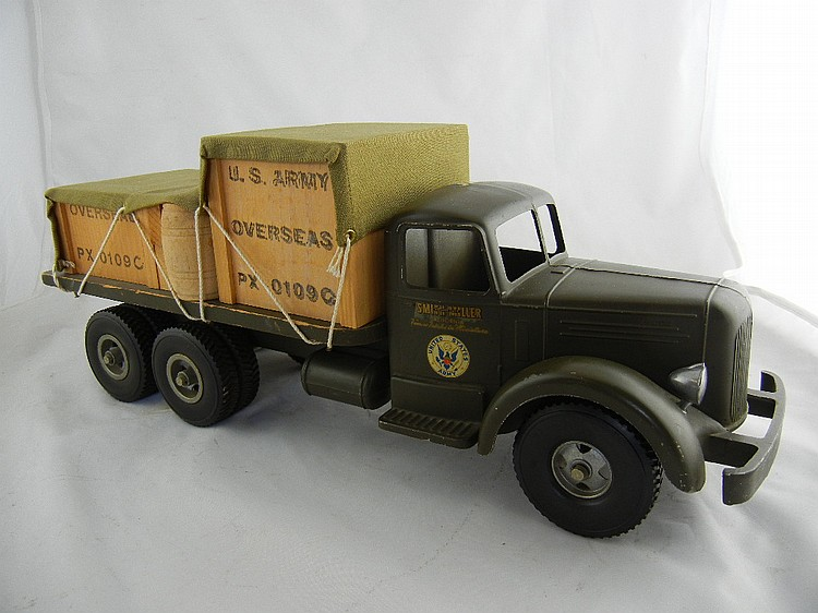 Smith Miller Mack US Army Flat Bed Truck w/ Material