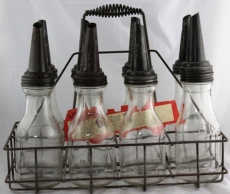 8- Oil Bottles and Carrier