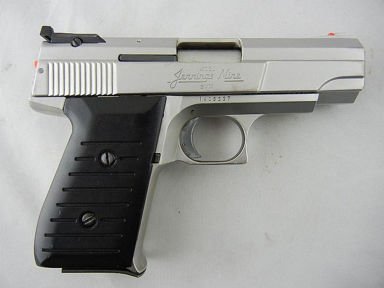 Jennings Model Nine 9mm Pistol Nickel, Original Box