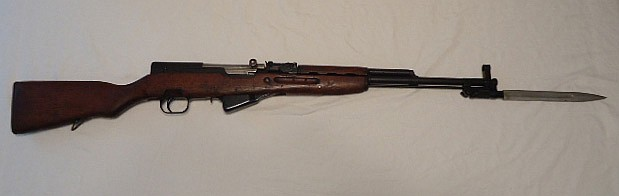 Romanian SKS 7.62x39 Rifle, Folding Bayonet