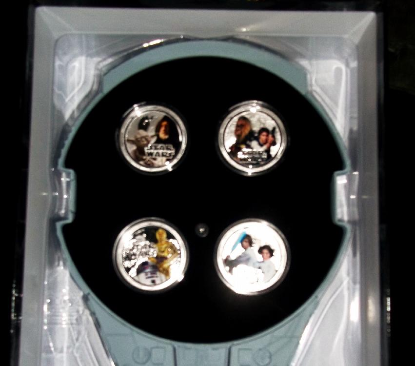 STAR WARS SILVER COINS SET