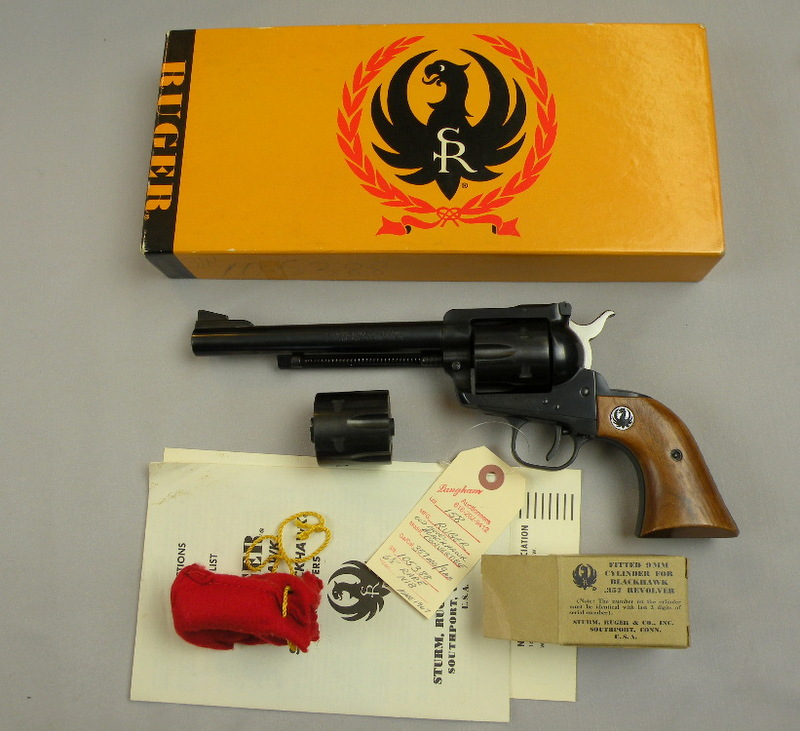 Ruger Old Model Blackhawk Convertible Tyupe2 357 Mag/9MM
