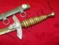 "14"" NAZI DAGGER WITH MEDAL SHEATH"