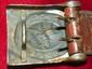 WWII GERMAN RARE SCHMOLE LUFTWAFFE EM/NCO BELT BUCKLE W/TAB 1941 - EAGLE CLUTCHING A SWASTIKA